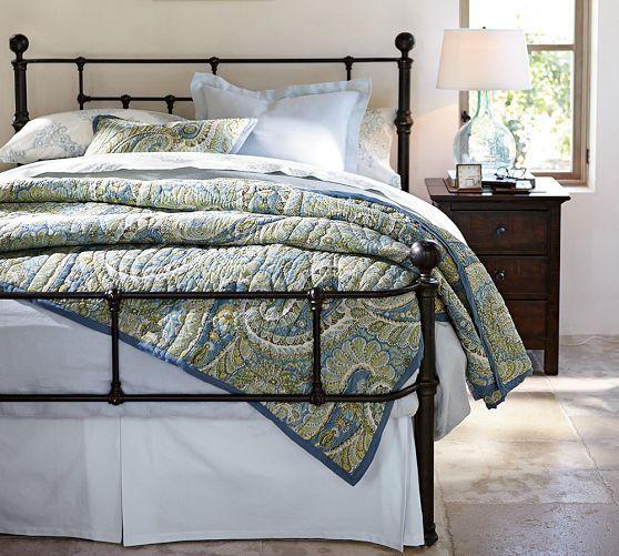 Mendocino Metal Bed King Dark Brass Finish Bed