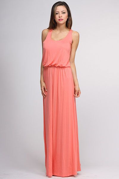 Coral Casual Dresses
