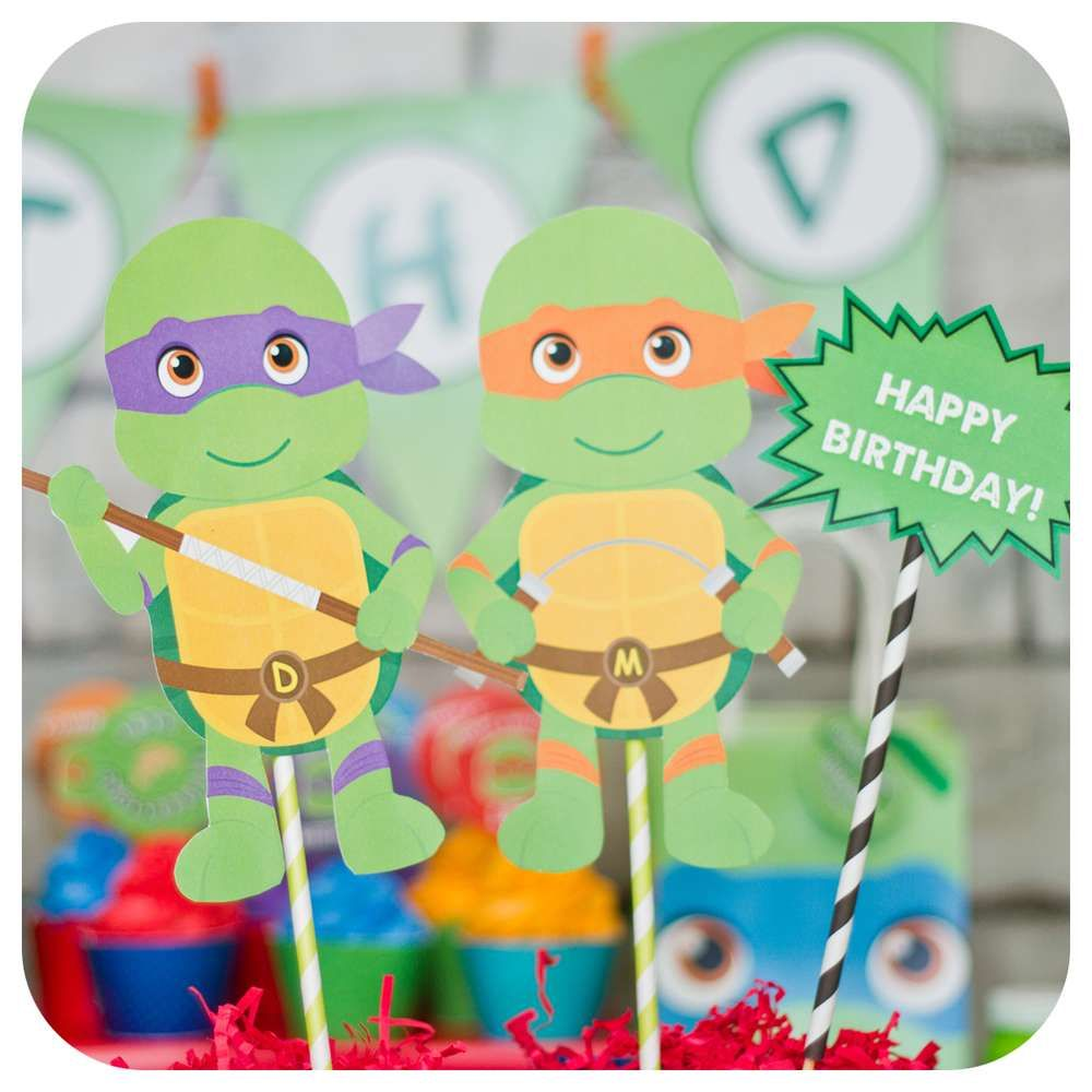 Teenage Mutant Ninja Turtles Birthday Party Ideas Photo 4 Of 36 Ninja Turtles Birthday Party Teenage Mutant Ninja Turtle Birthday Turtle Birthday Parties