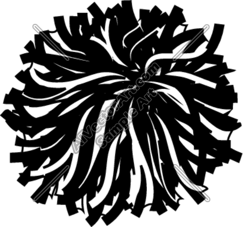 pom poms clipart #4 | clip art pin | traceable (silhouette cameo