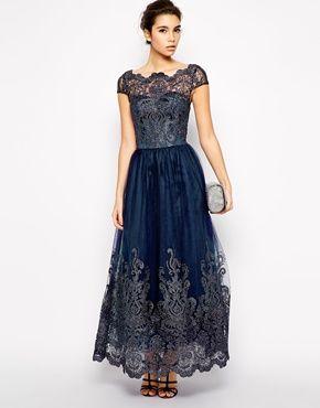 Chi Chi London Premium Metallic Lace Maxi Dress My Style