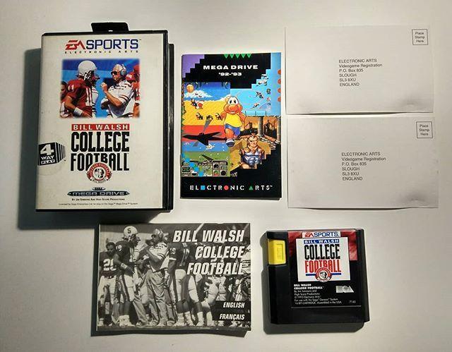 Sega Megadrive Bill Walsh College Football Pal Retrogaming