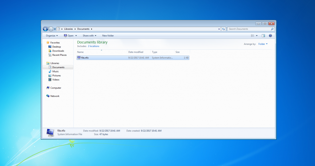How to open a  nfo file on Windows - AGR Technology