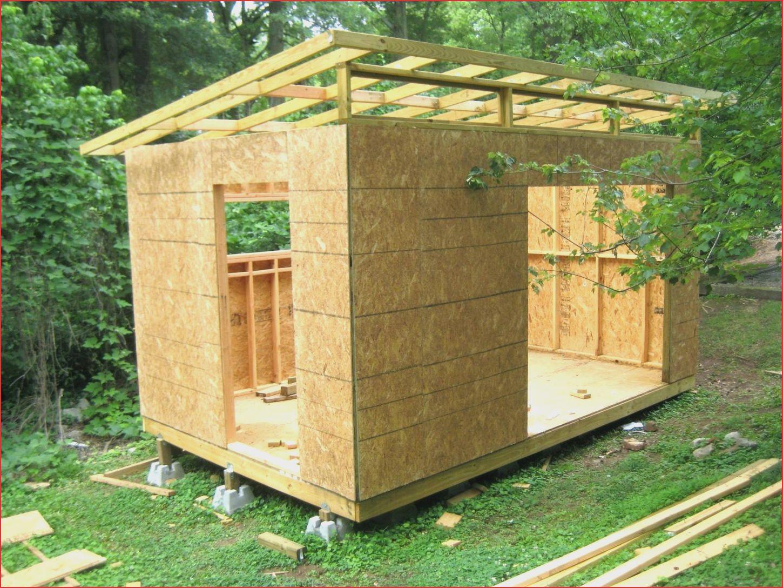 Garten Konzept 30 tolle Gartenhaus Pultdach Selber Bauen