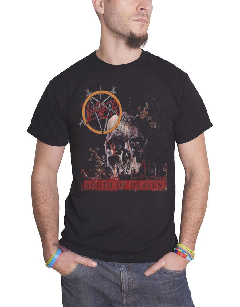 89c16767d Slayer T Shirt South Of Heaven band logo new Official Mens Black #fashion # clothing