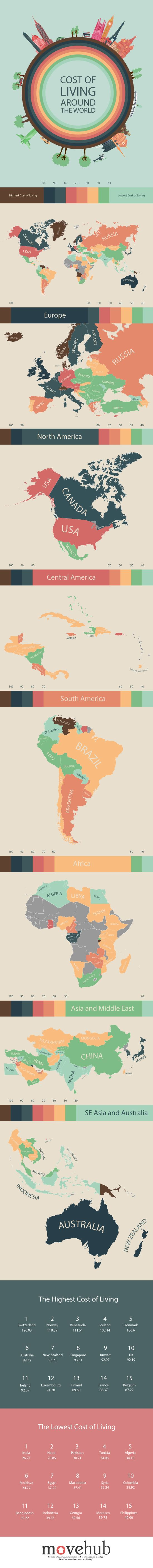 These maps show you the cost of living in other countries factors when you plan to go to another country there are a lot of factors to consider including cost movehub has put together a map guide of the cost of living gumiabroncs Choice Image