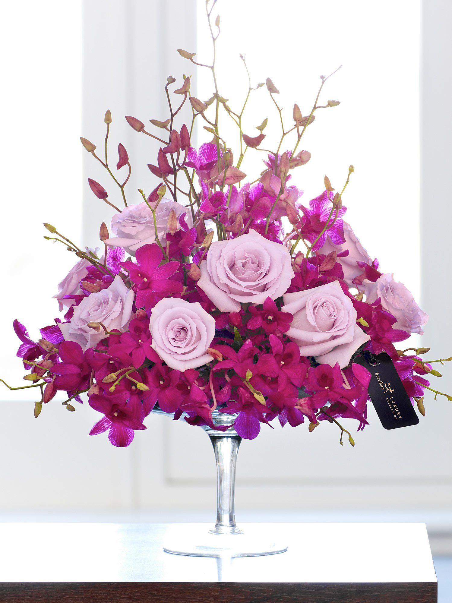 Luxury Orchid and Rose Arrangement Interflora Bouquet