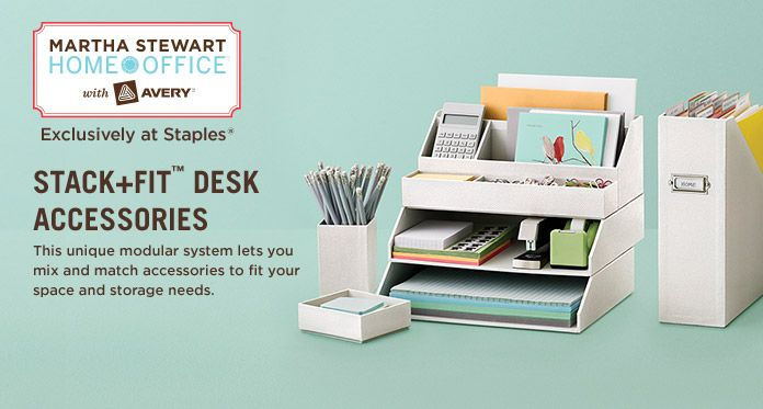 Martha Home Office Stack Fit Desk Accessories