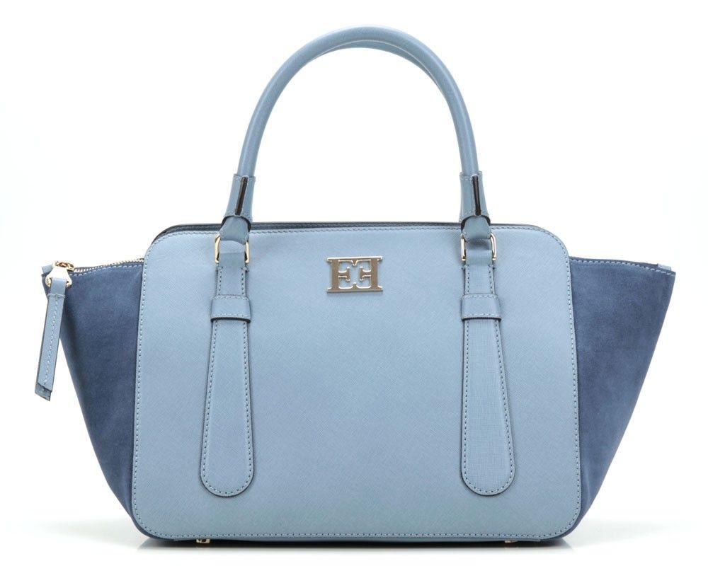 99c4da29bea580 wardow.com - Tasche von Escada, Handtasche Leder blau 33 cm | Trend ...