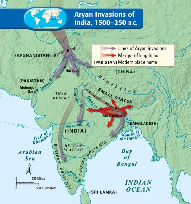 Aryan Invasions, 1500-250 BCE Indian History Pinterest History - best of world history maps thomas lessman