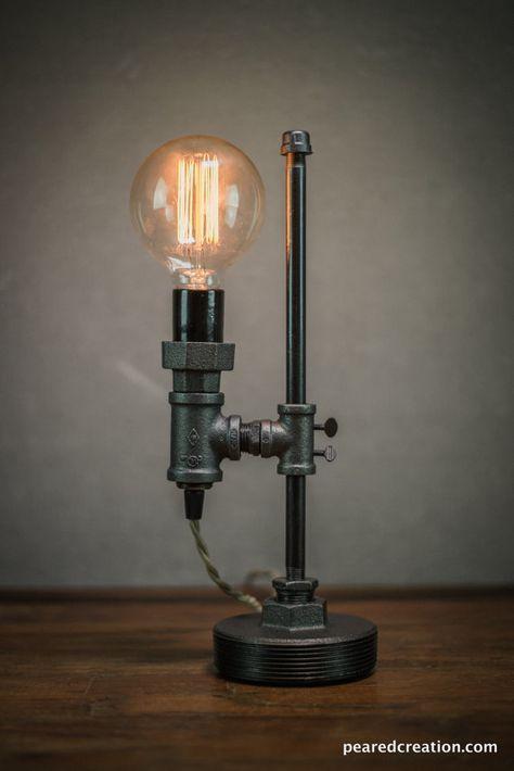 Lampe Minimaliste Lampe De Bureau Industrielle Edison Bulb Light Steampunk Modele No 1051 Lampe De Bureau Lampe De Tuyau Bureau Industriel