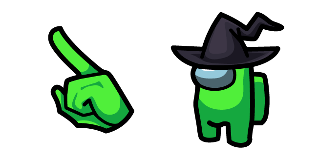 Among Us Lime Character In Witch Hat Witch Hat Green Characters Witch