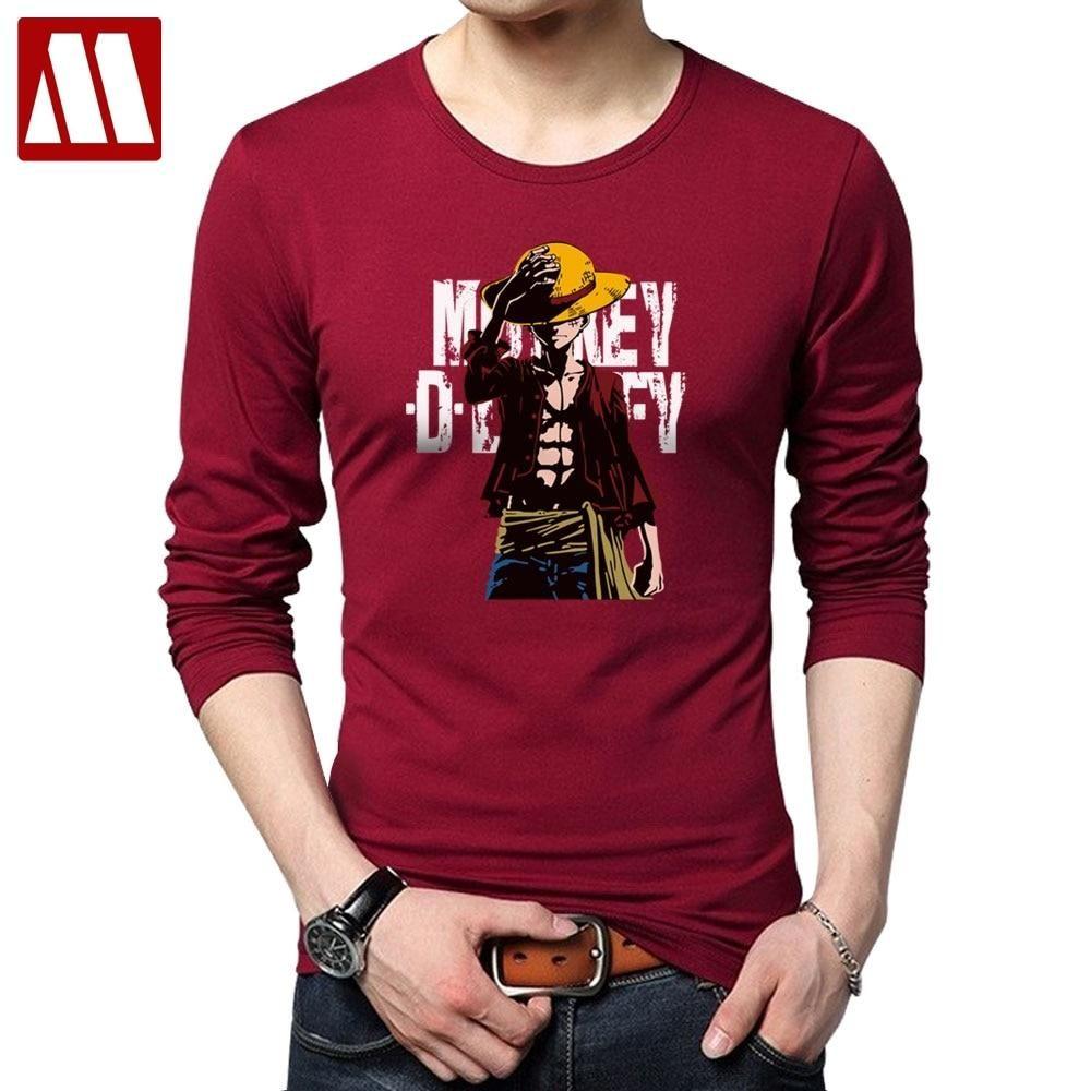 One Piece Monkey.D.Luffy T-shirt | Long sleeve tshirt men ...