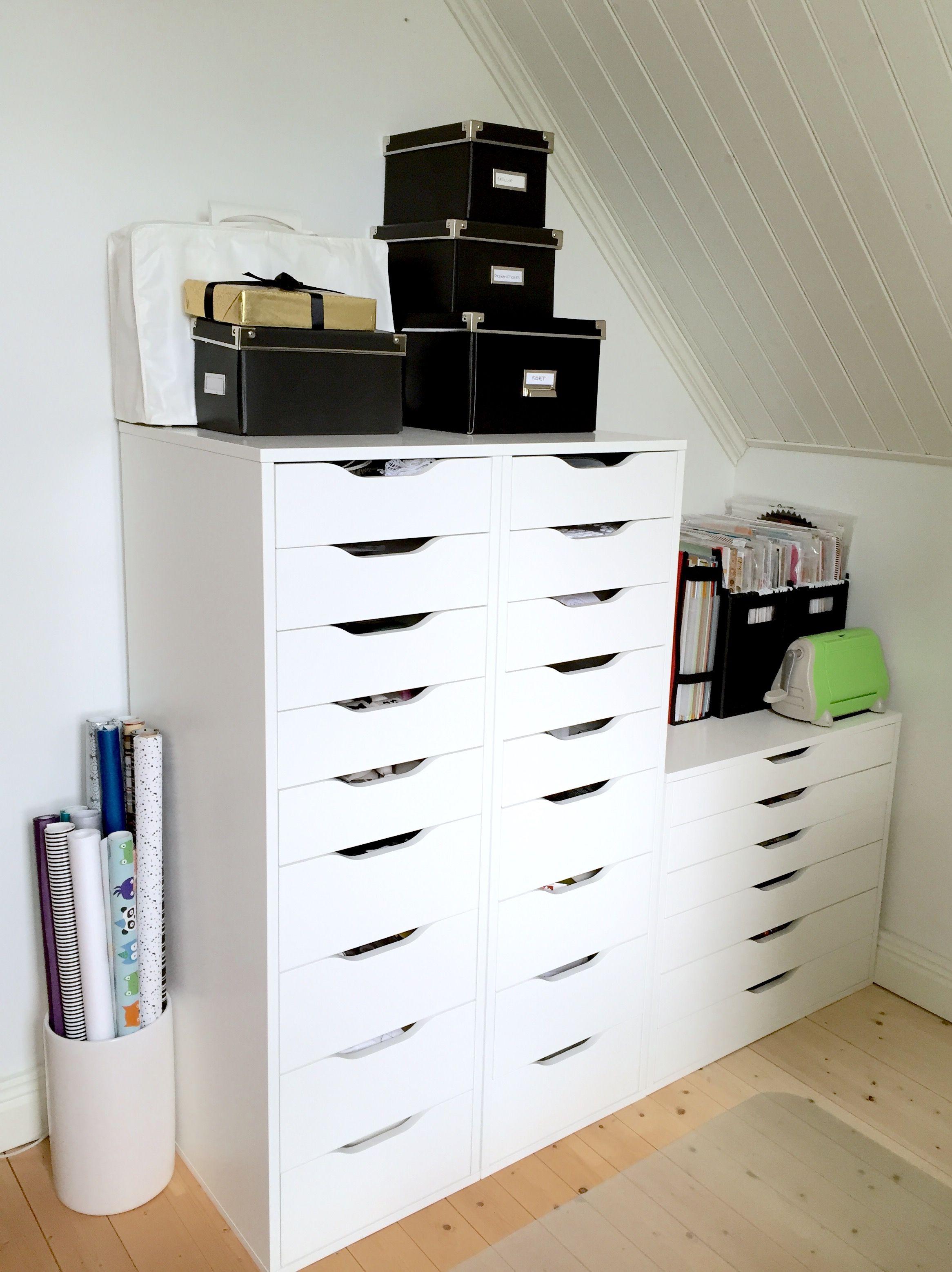 scrapbooking storage ikea alex drawers arbetsrum pinterest ikea alex drawers alex. Black Bedroom Furniture Sets. Home Design Ideas
