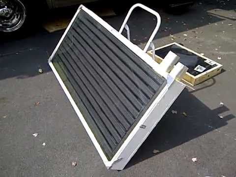 Free Solar Heat For Your Motorhome, RV, Boat Or House   Solar Heater Build