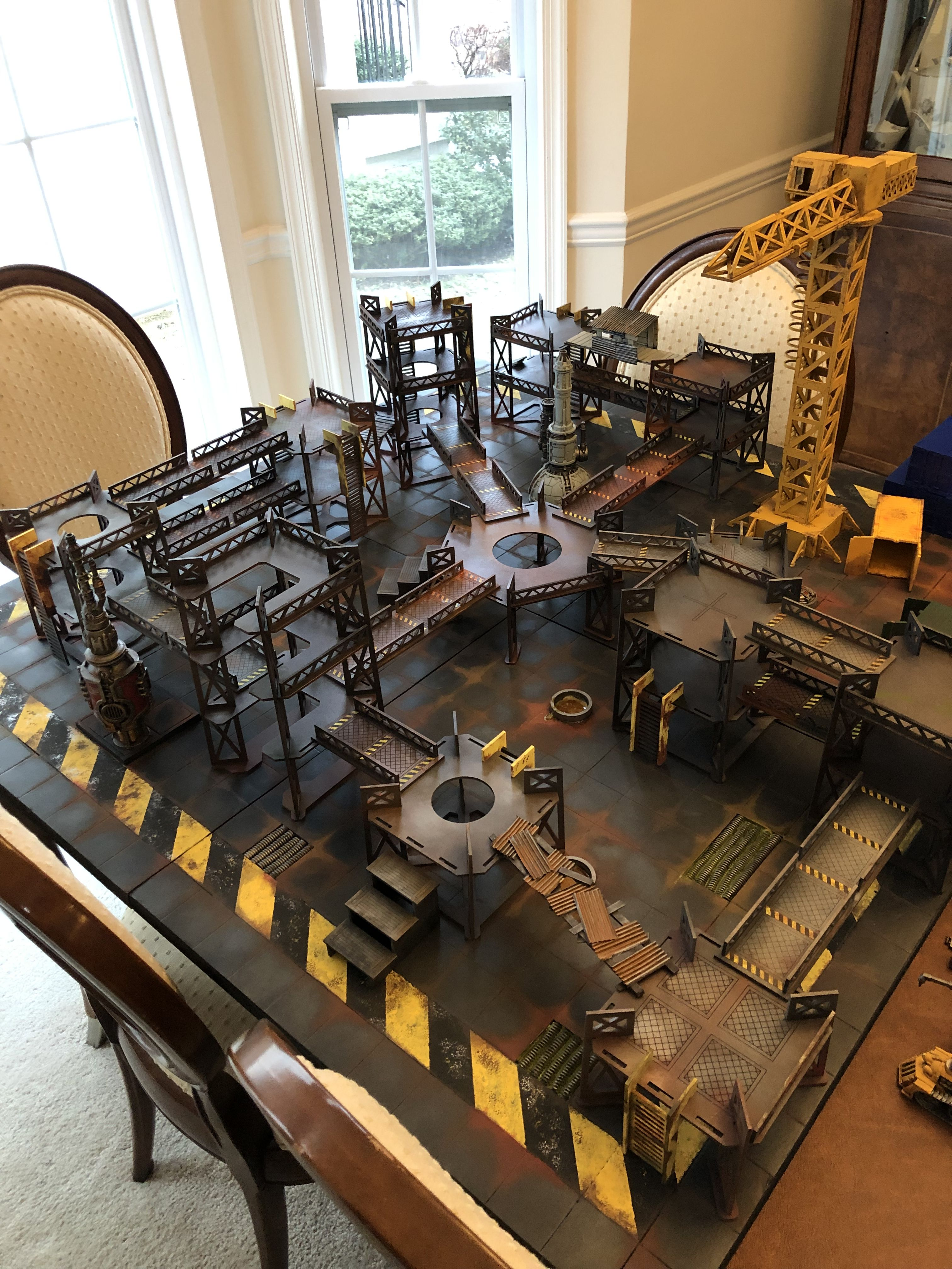 Necromunda board and MDF terrain by James D Barker III and
