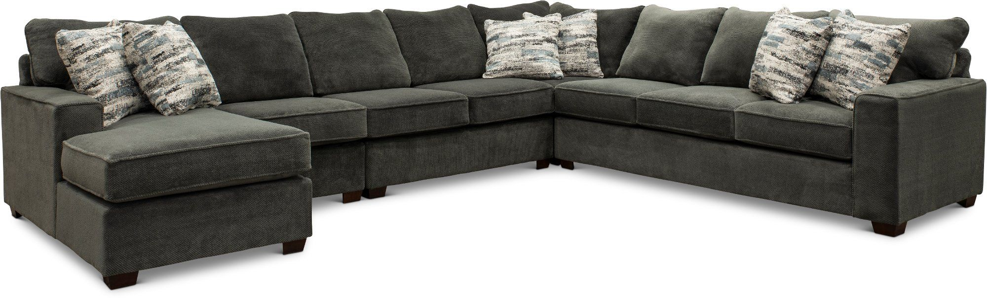 Dark Gray 5 Piece Sectional Sofa With Laf Chaise Autumn