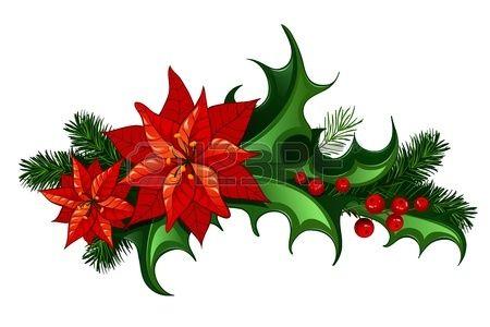 Noel Decor Traditionnel Avec Des Feuilles Et Des Baies De Houx Et De