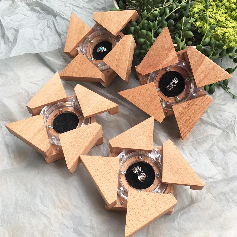 Unusual Rustic Wedding Ring Case Jewelry Gift Box in 2020