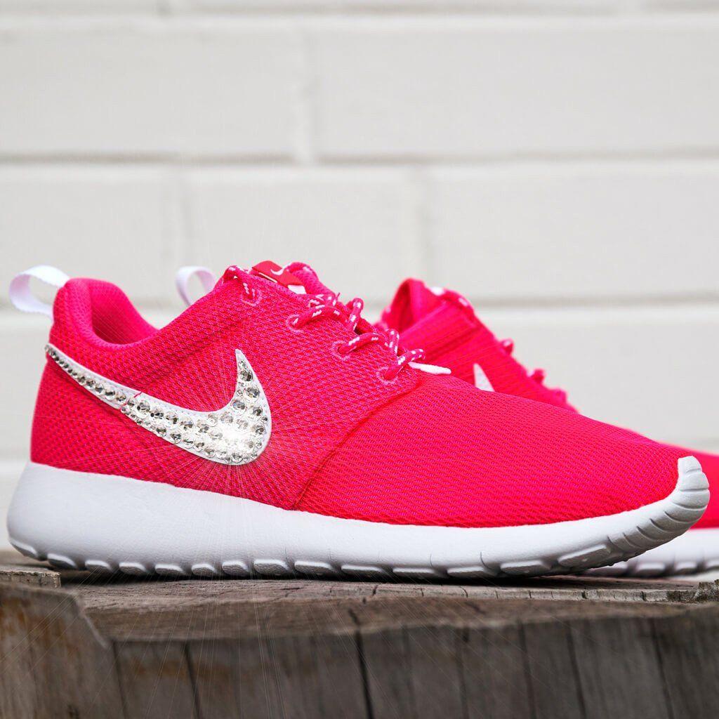 Glitter Pink Nike Swarovski Roshe White Samantha Sneaker Aq8wSZf1