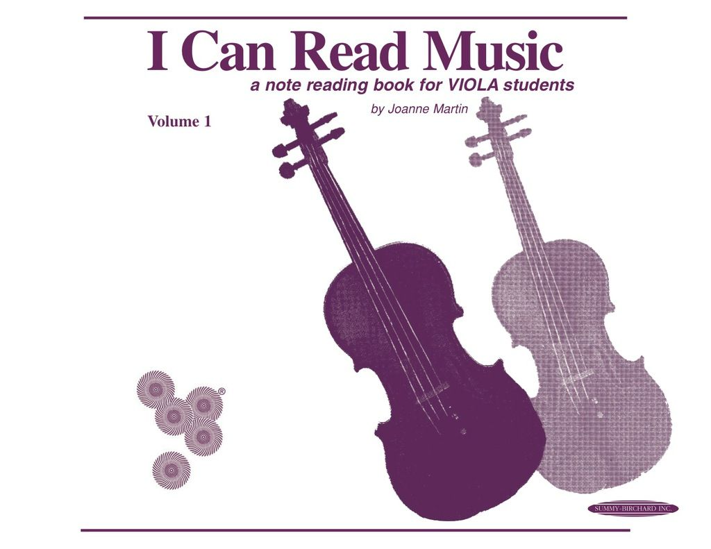 I Can Read Music Volume 1 A Note Reading Book For Viola
