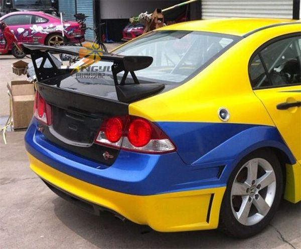 Fit For Honda Civic Fd2 Fa1 Gt Gt Wing Carbon Fiber Rear Spoiler Rear Wing Honda Civic Civic Carbon Fiber
