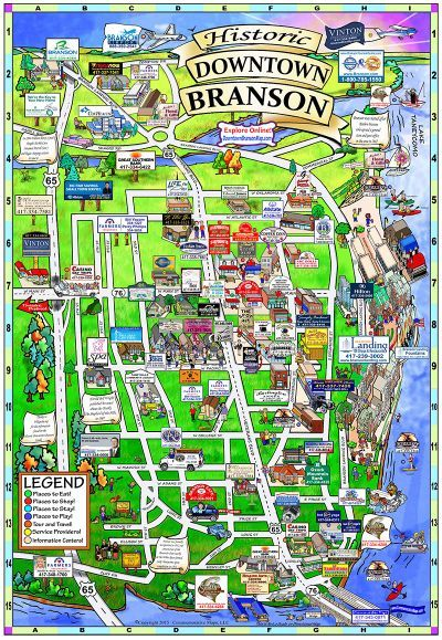 Branson Missouri Map Travel Ideas Pinterest Branson Missouri - Branson tourist map
