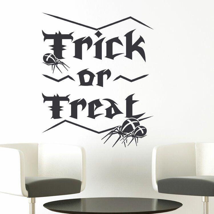Wandaufkleber Trick or Treat, Spiders