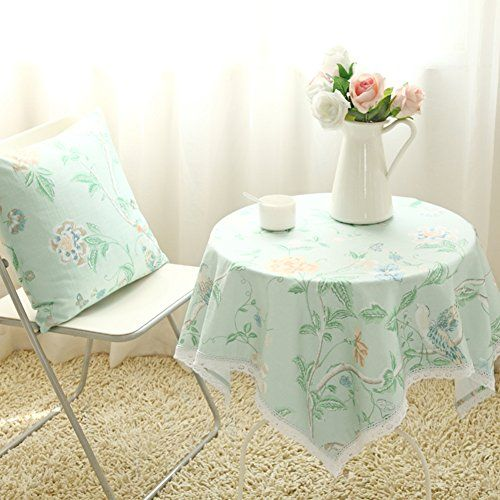 TRE Pastoral Cloth/European Cotton Plaid Table Cloth/Lace Tablecloths Round  Square Table Round Tablecloth M