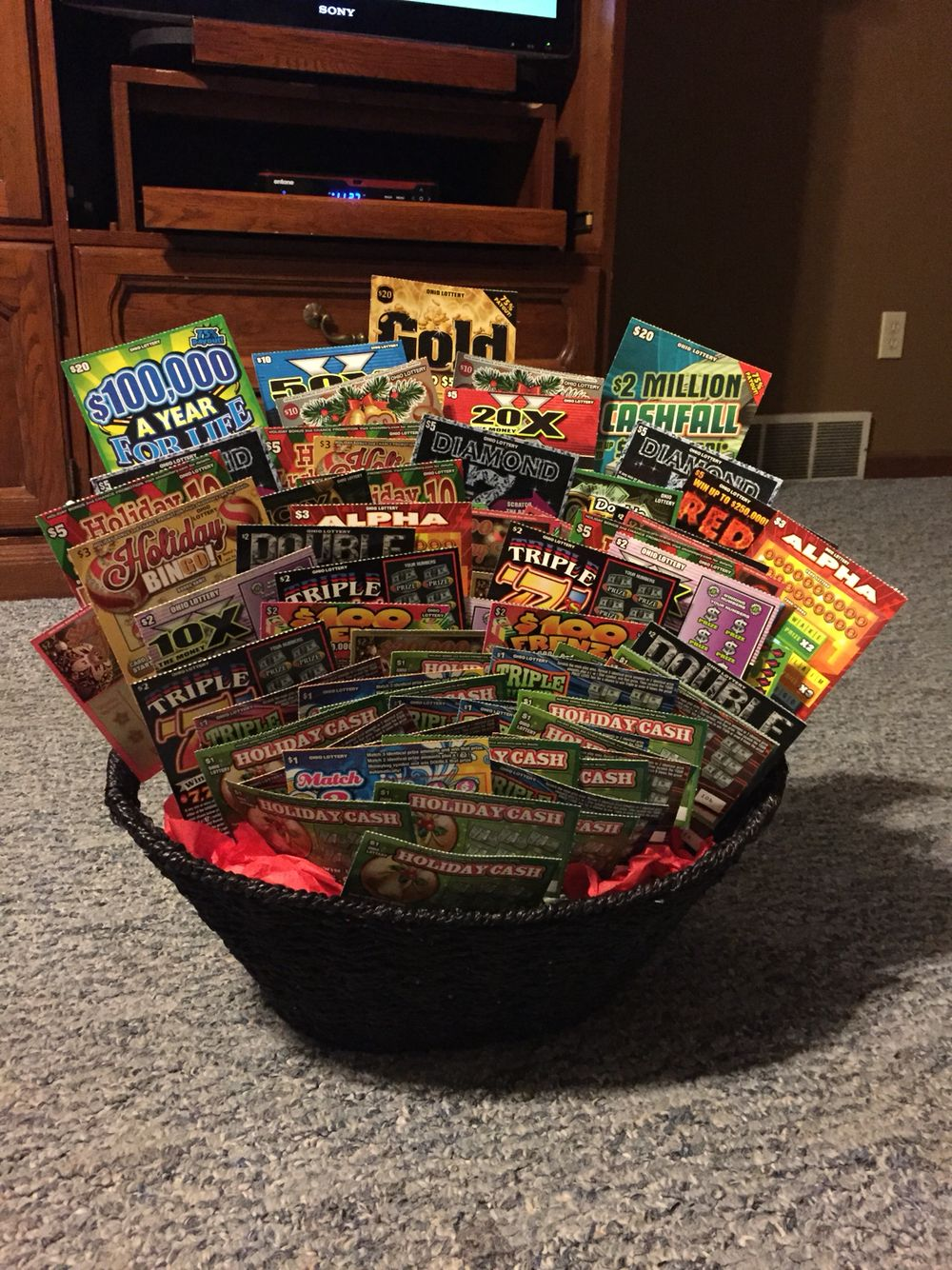 Lottery ticket basket for benefit auction | DIY ...
