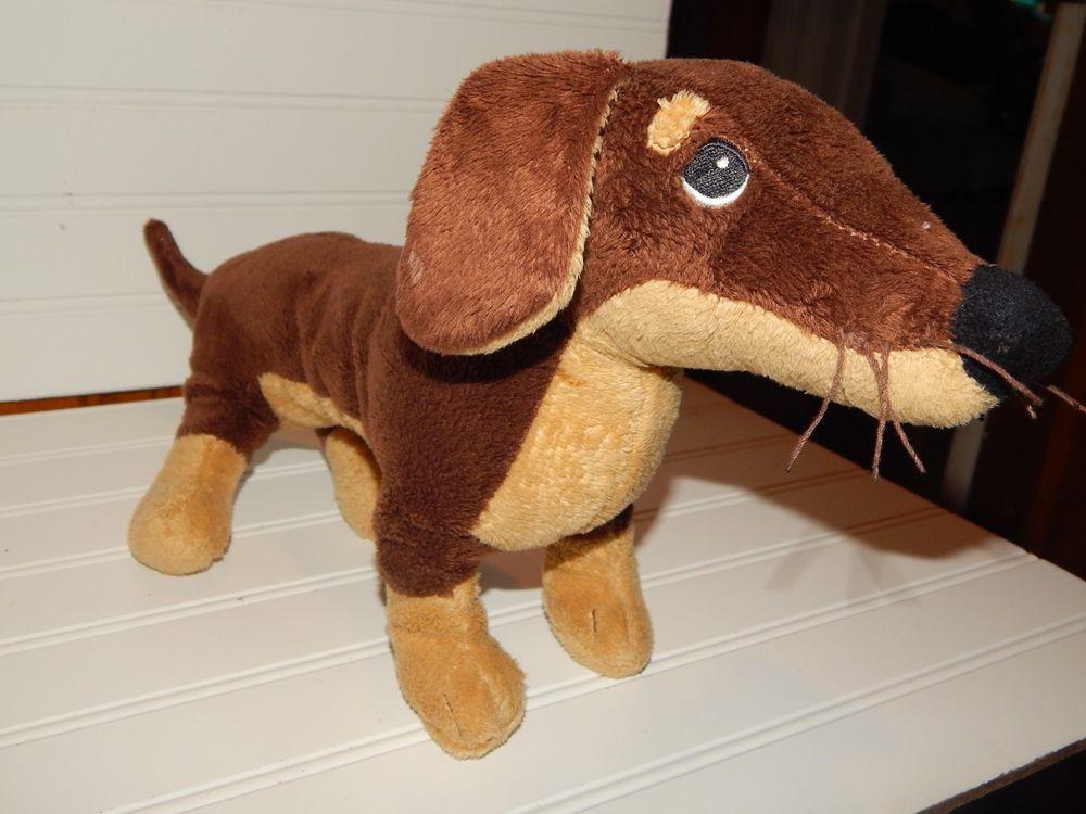 Ikea 17 Plush Stuffed Brown Dachshund Wiener Dog Puppy Toy Animal