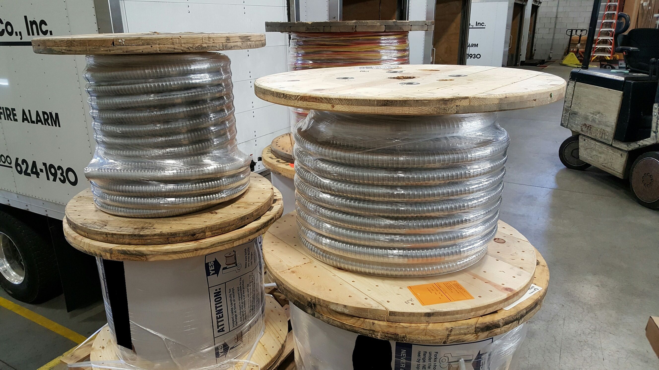 Preparing some reels of 4/0-4 #conductor MC for delivery. #acewire ...