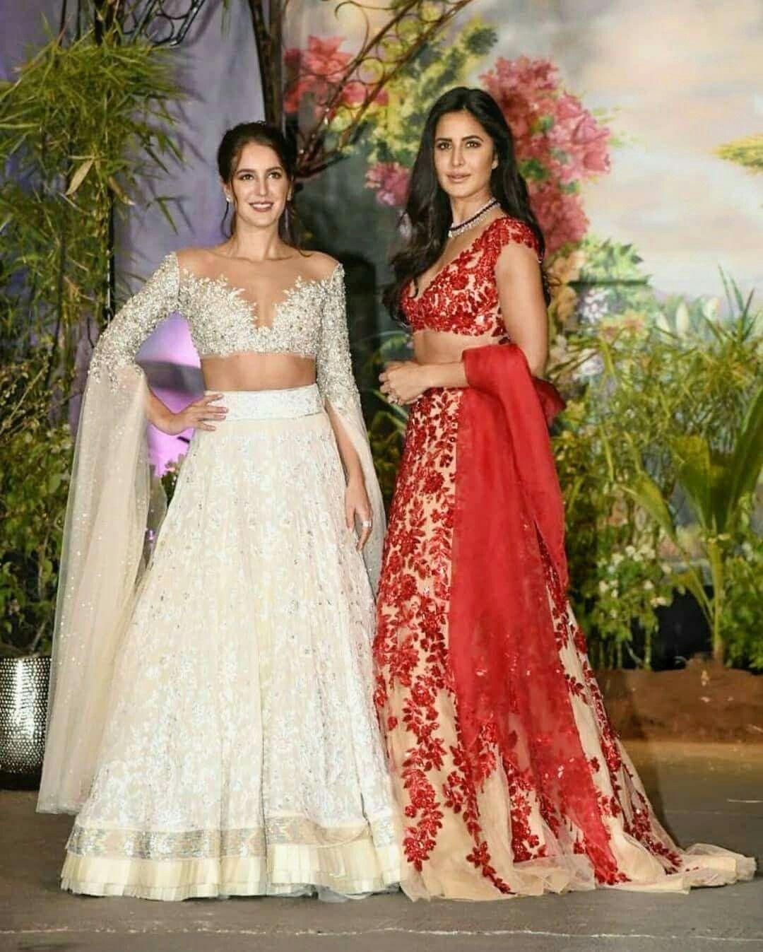 Katrina Kaif With Isebell Kaif At Sonamahuja Wedding Fashion Show Dresses Indian Wedding Outfits Event Dresses