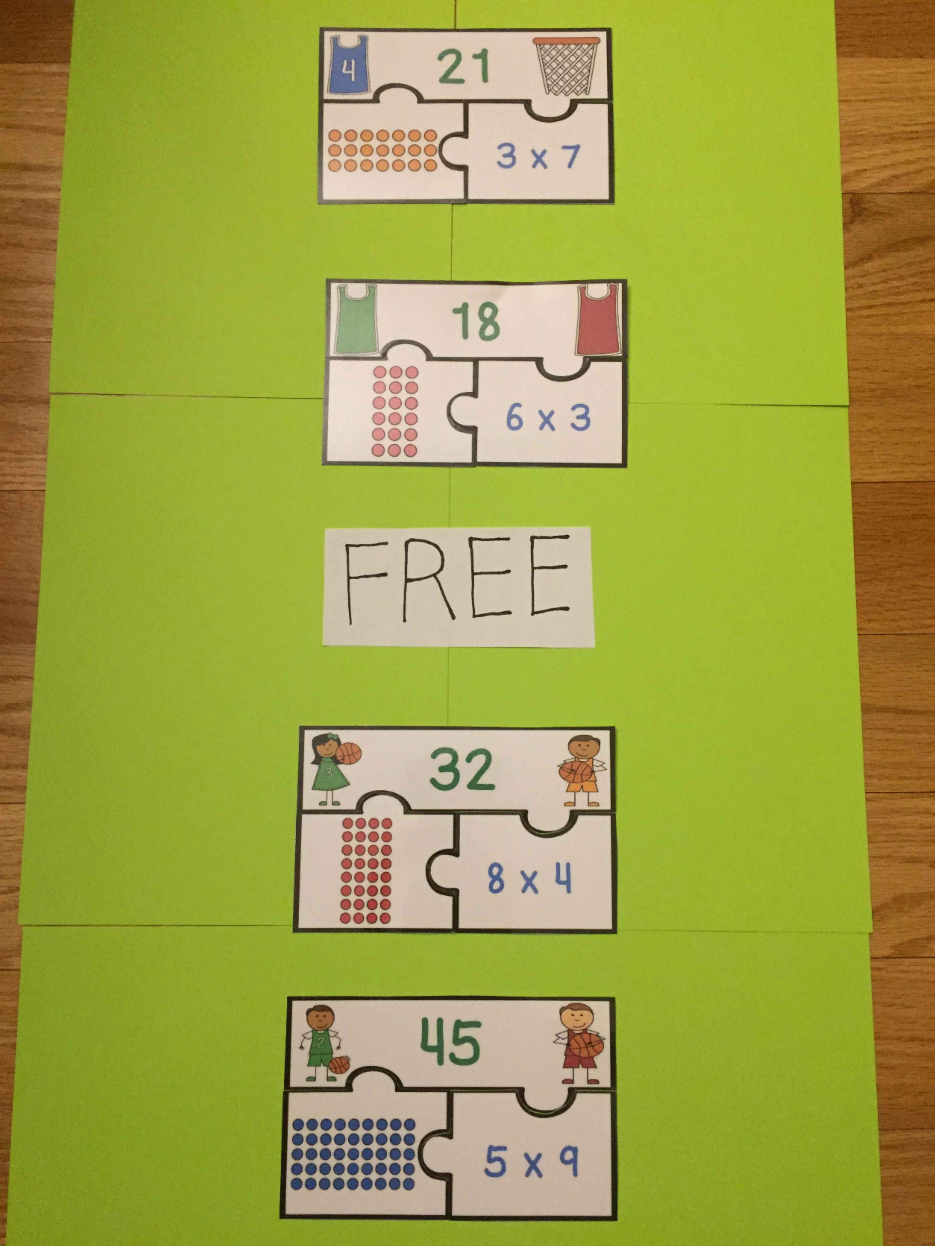 Free Multiplication Game For 3rd Grade Math Activity
