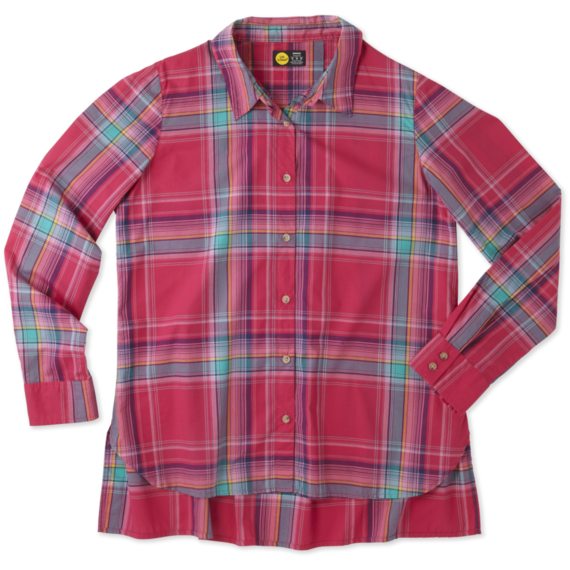 a8a4b1854916f Women s Pop Pink Down Home Plaid Shirt