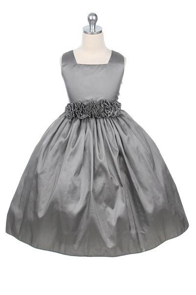 bd501ff6b9f5e Flower Girl Dresses - Other Colored Dresses - Flower Girl Dresses Discount  Cheap Designer Dressforless - -Silver Taffeta Flower Girl .