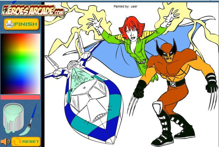 X Men Cartoon Coloring Game Online