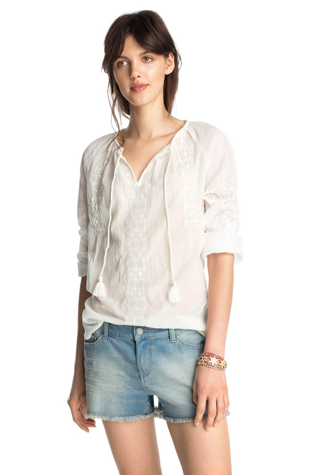 Esprit - Crinkle-Oversize-Tunika, 100% Baumwolle im Online Shop kaufen