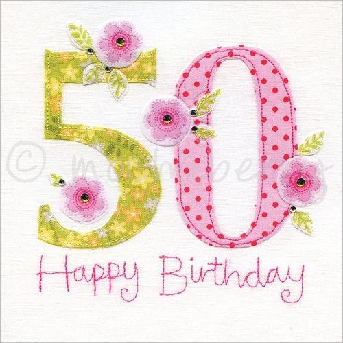Birthday Card 50th Birthday Card This Delightful 50th Birthday