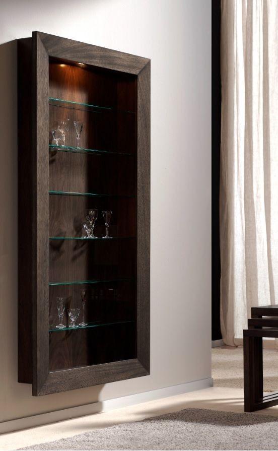 Vitrina moderna heide baldas de cristal luz menjador - Vitrina cristal ikea ...