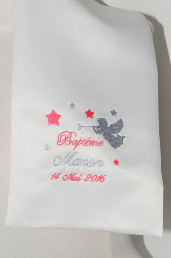eee1a8bd9dba scarf shawl baptism Angel and stars custom embroidered for boy or girl    Pinterest