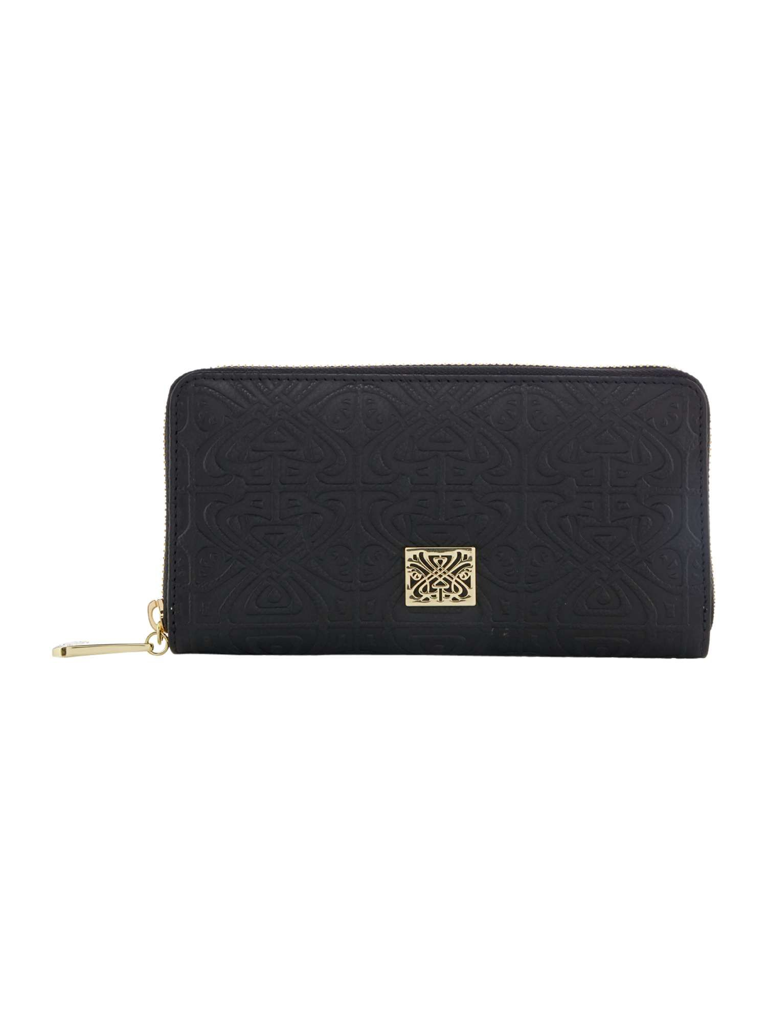 Biba Slip Pocket Emboss Zip Around Leather Purse House Of Fraser
