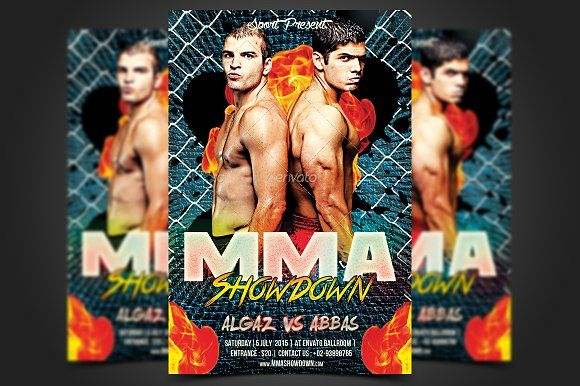 Mma Showdown Flyer Template By Meisuseno On Creativemarket