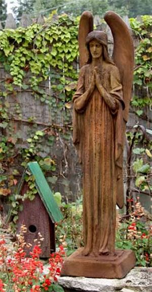 Merveilleux Somber Angel Outdoor Religious Garden Statue Statuary Made Of Faux  Concrete/Stone. Available In Ten Outdoor Friendly Finishes. View The Entire  Collection Of ...