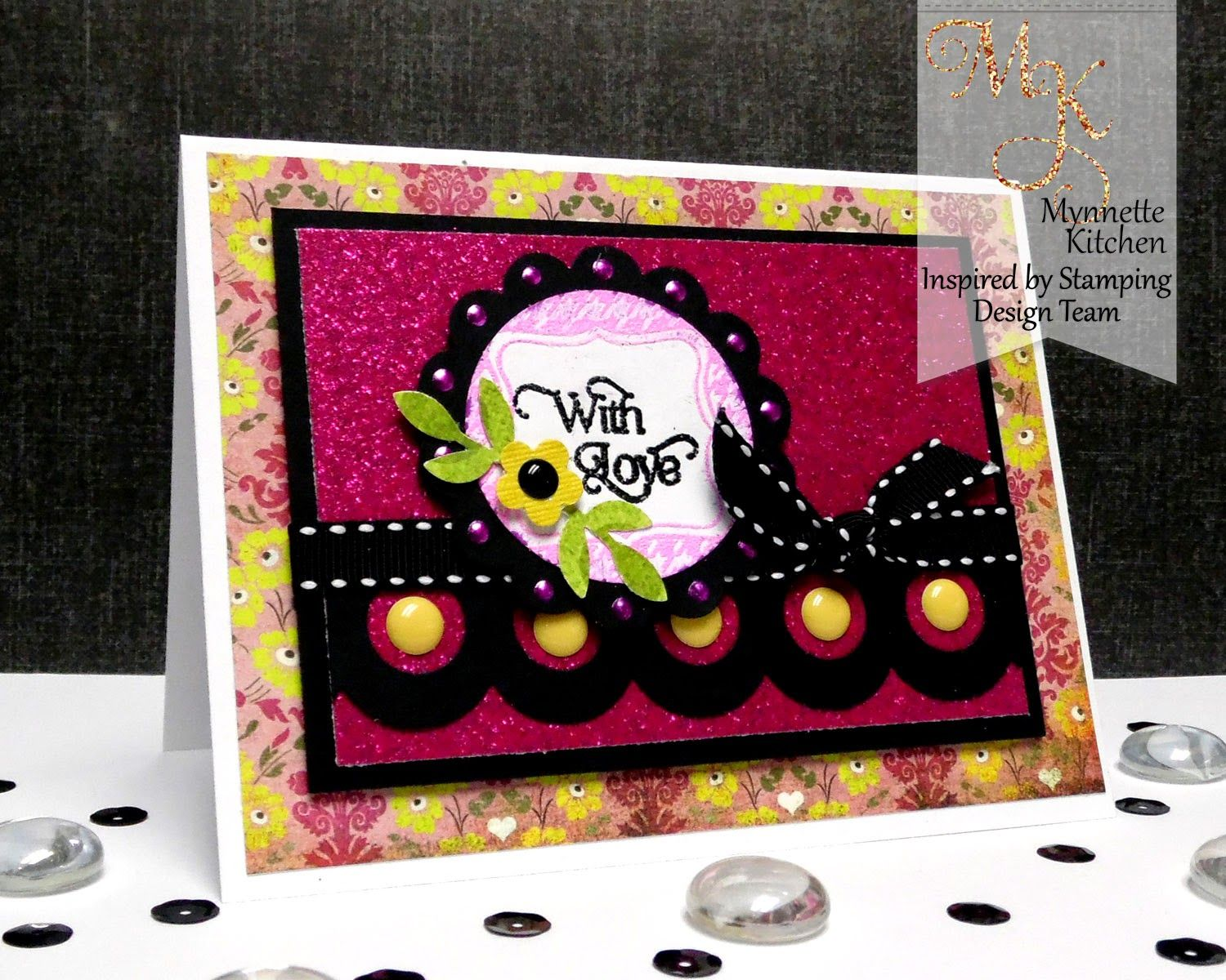 Inspired by Stamping, Mynn Kitchen, Cute Circles stamp set, Love card