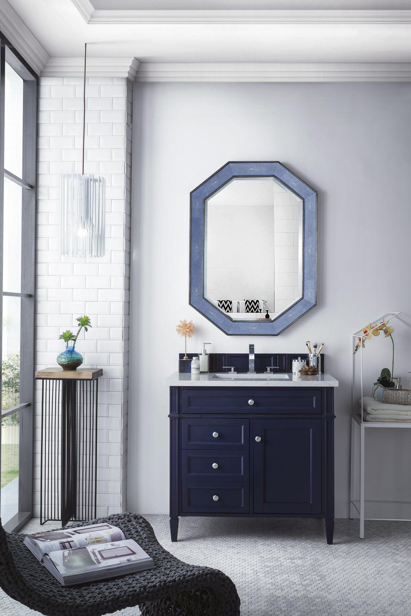 "brittany 36"" single vanity victory blue  coral bathroom"