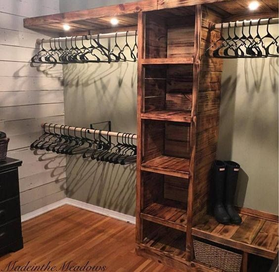 8 Creative Shelving Ideas Making Over A Master Closet Rustic
