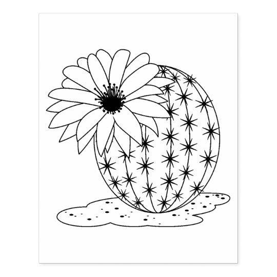 Pin on Diseños bordados a mano  Cactus Flower Outline