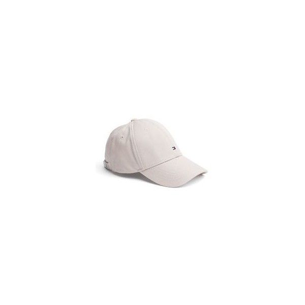 Vintage Tommy Hilfiger leather strapback hat cap beige ❤ liked on Polyvore  featuring accessories fbe7a4d92422
