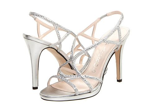 Strappy Silver Heels For Wedding | Tsaa Heel
